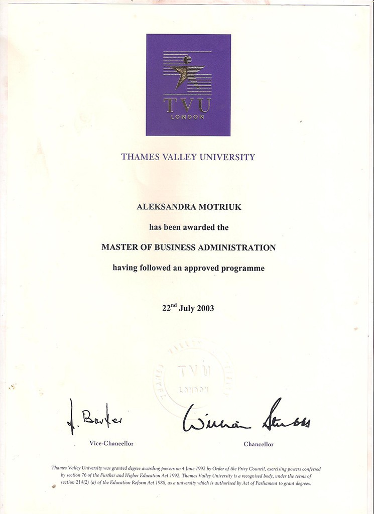 MBA Dyplom